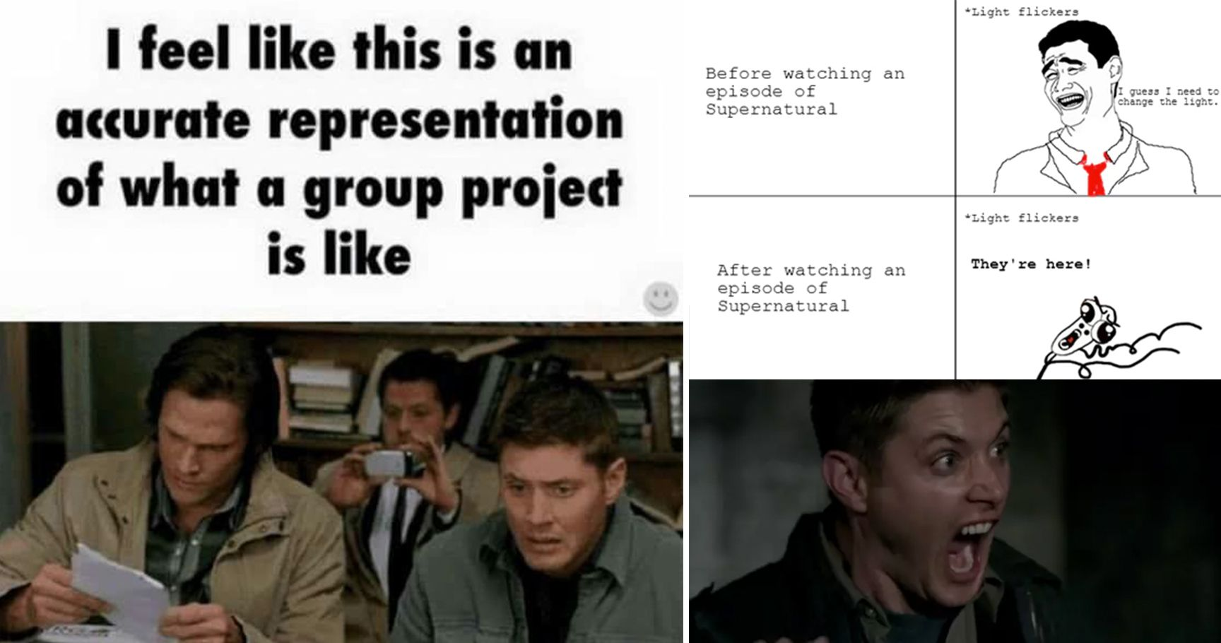 supernatural 15 'supernatural' memes that will make any fan rotf with laughter