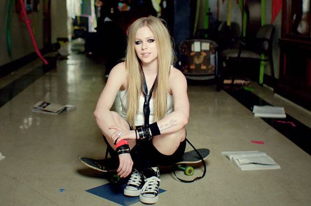 Avril Lavigne performs Here's To Never Growing Up music videoVia Avril Lavigne/YouTube