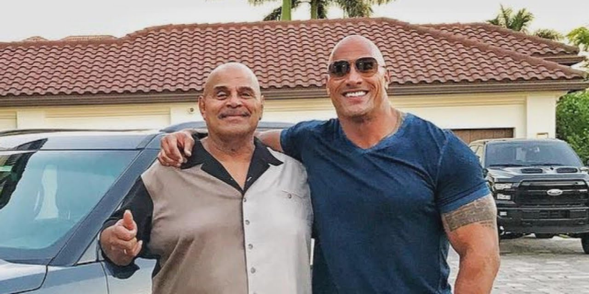 The Rock Shares A Rare Throwback In His Late Dad's Wrestling Gear